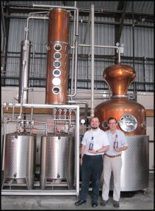 Distiller Alan and I at NY Distilling